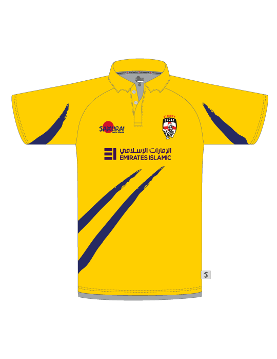 Blighty Ducks Cricket Polo | Yellow