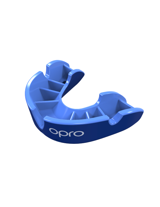 OPRO Silver Self-fit Mouthguard | Blue
