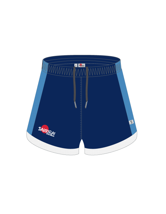 Ladies Kuro Shorts  with Undershorts | Navy/Sky