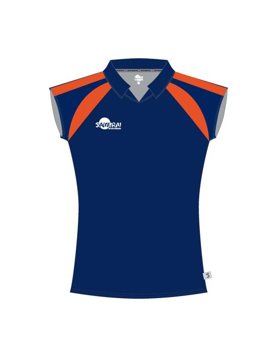 Netball Top Design 3514 | Navy/Fluro Orange