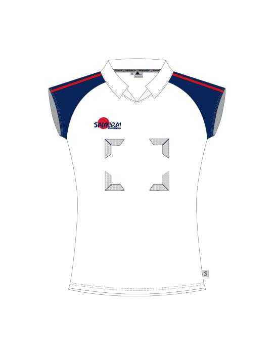 Elite Houston Netball Top | White/Navy