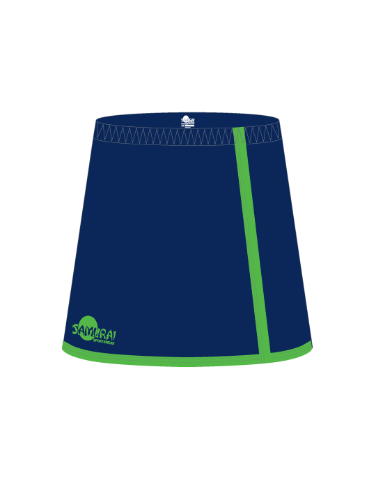 Netball Skort Design Washington | Navy/FluroGreen
