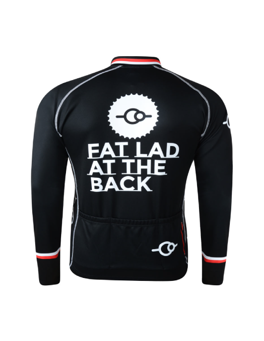 Nippy Red Long Sleeve Cycling Jersey