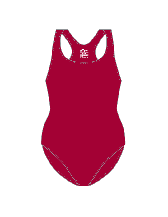 Ladies Pro Swim Suit | Maroon
