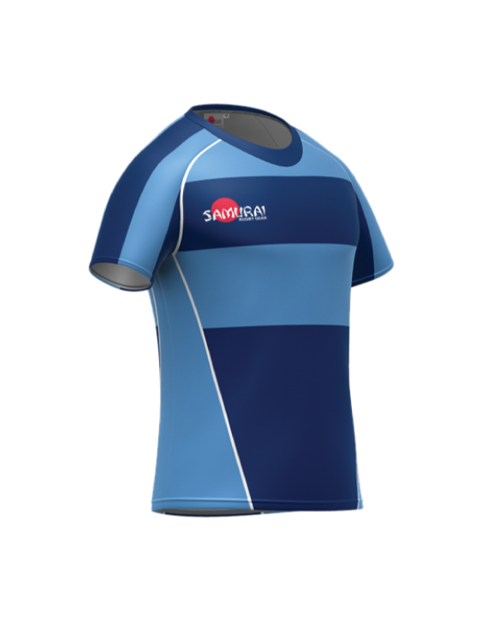 Rugby Shirt Style C | Sky/Navy