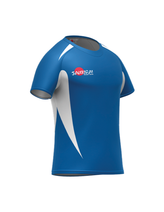 Rugby Shirt Style D | Royal Blue/White